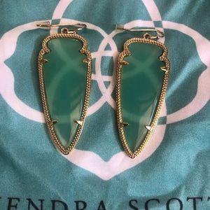 Authentic Retired Kendra Scott Sea Green Earrings